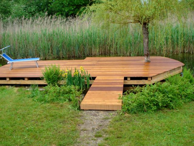 Stege aus Holz: Holzsteg von Tobias Greinwald – Zimmerei / Bautenschutz / Trockenbau